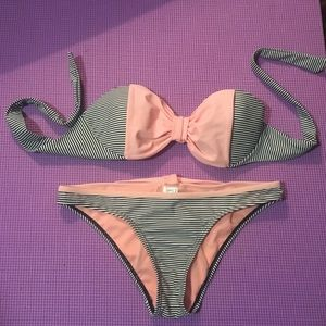 Other - Pacsun Stripped Bikini with pink bow